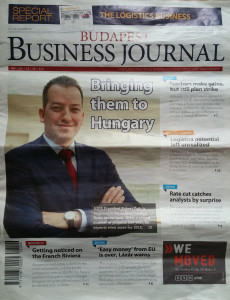 Cover of BBJ. (Sudden photo had been shot by Business Management Hungary)