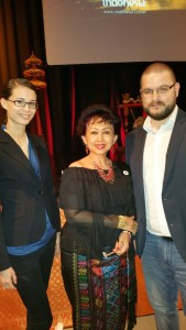 Ms. Boglárka Vincze, H. E. Wening Esthyprobo Fatandari and Adorján Tóth (photo by Business Management Hungary)