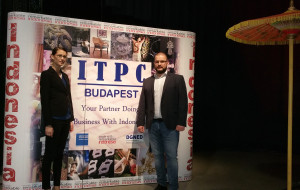 Boglárka Vincze and Adorján Tóth at the event of ITPC (photo by Business Management Hungary)