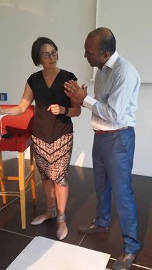 Paul Pahil with Professor Barbara Fredrickson.